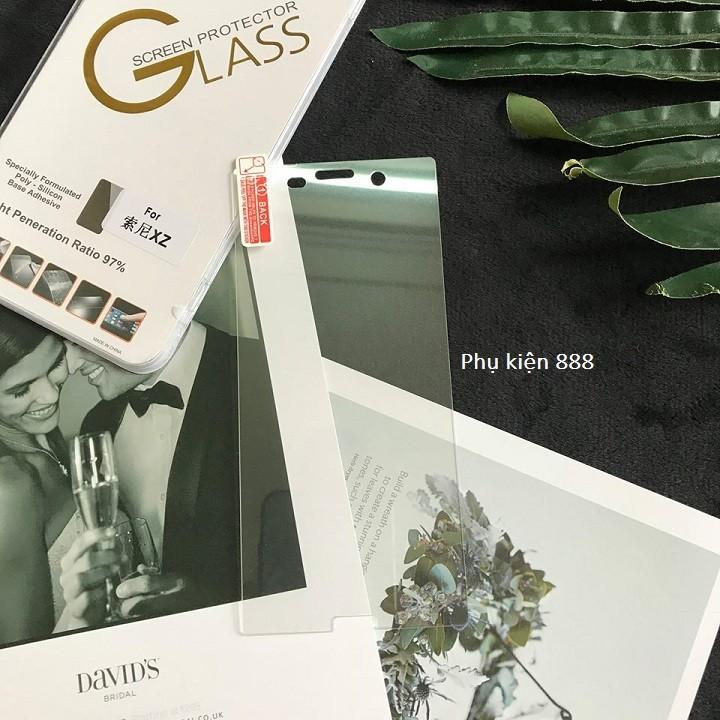 Combo kính cường lực và ốp silicon Sony Xperia XZ Glass