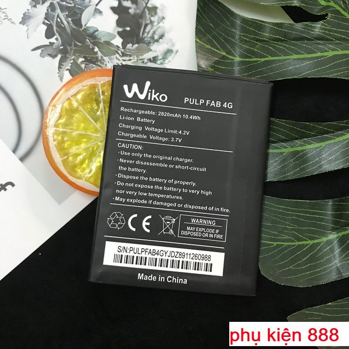 Pin điện thoại Wiko Pulp Fab 4G 2810mah