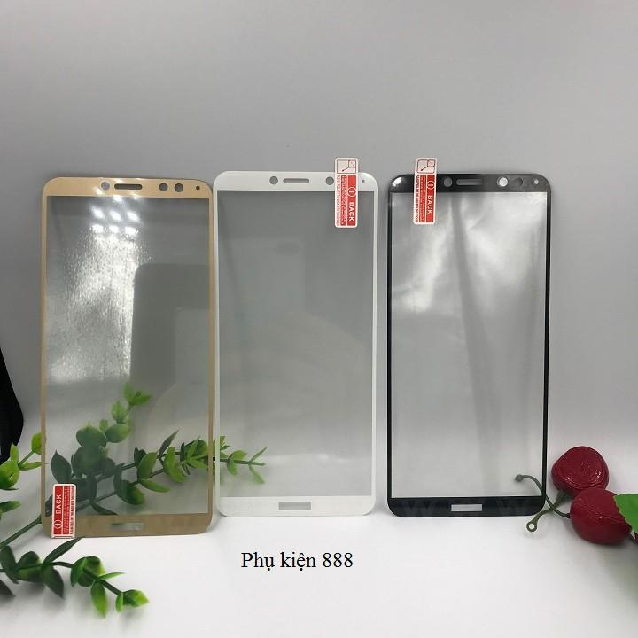 Combo kính cường lực và ốp silicon Y7 Pro 2018 Full màn Glass
