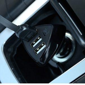 Đầu chia sạc trên xe ô tô 3 cổng USB Alien Series 3 Remax RC - C304
