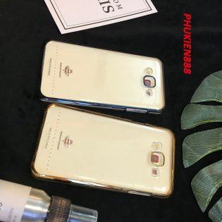 Ốp lưng cho SAMSUNG GALAXY J7 hiệu MeePhong cứng viền màu