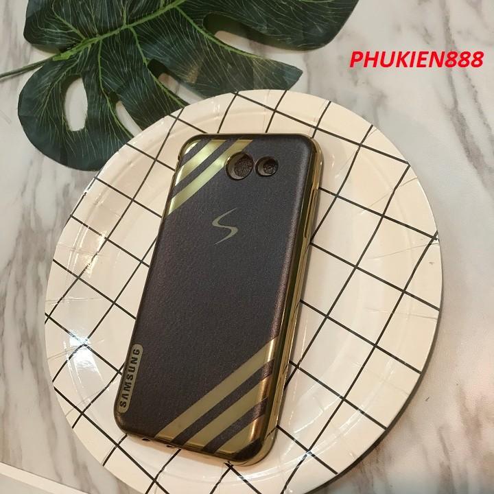 Ốp lưng Samsung Galaxy J3 Prime silicone dẻo giả da
