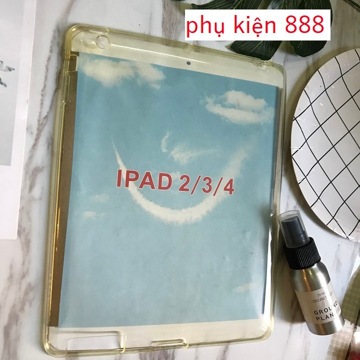Ốp lưng Ipad 2 3 4  silicon trong suốt