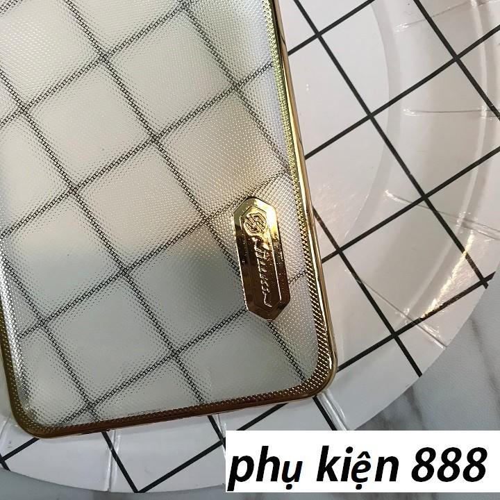 Ốp lưng Samsung Galaxy A7 Plus sần viền vàng Nillkin