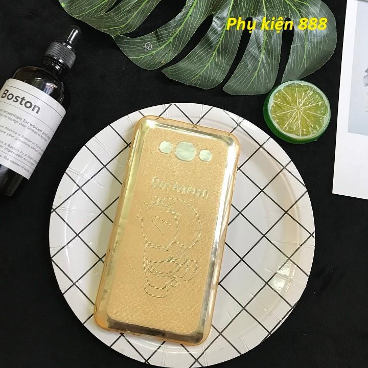 Ốp lưng Samsung Galaxy E7 hoa và doraemon