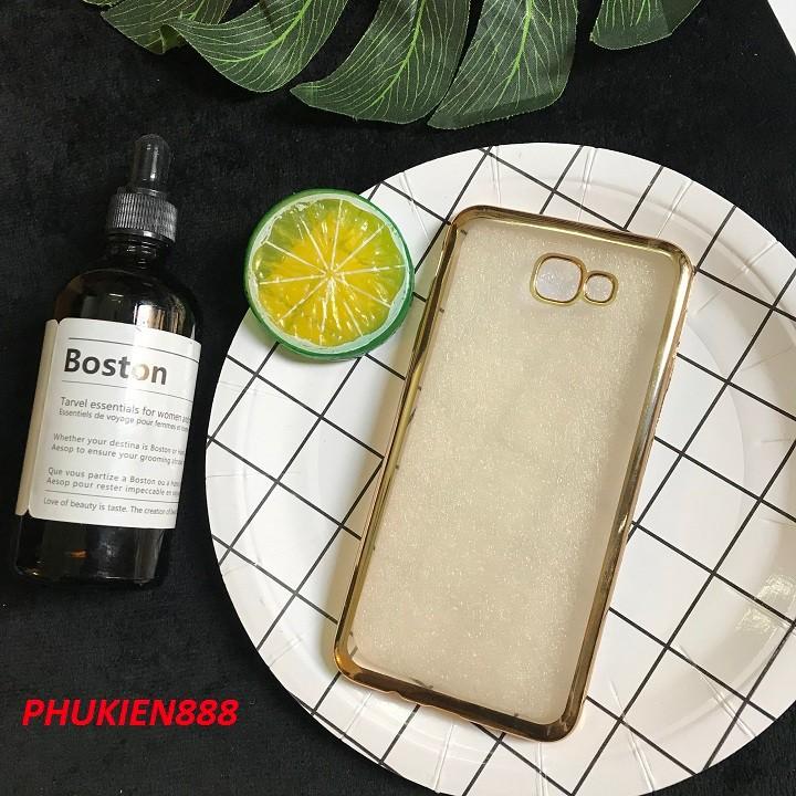 Ốp lưng Samsung Galaxy J5 Prime dẻo viền vàng