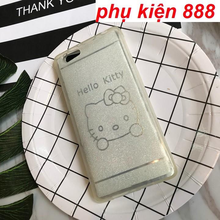 Ốp Oppo R8007 silicon dẻo Kitty nhũ