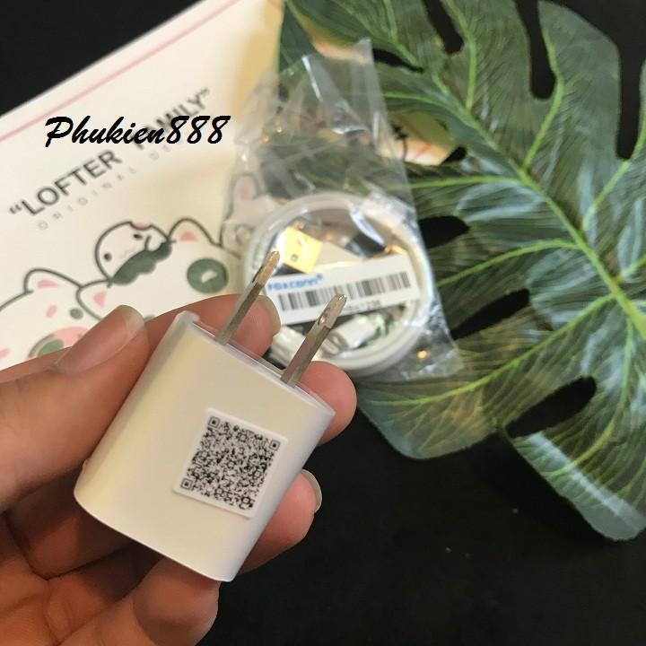 Bộ sản phẩm Củ vuông iPhone zin + Cáp sạc iPhone Zin 8ic