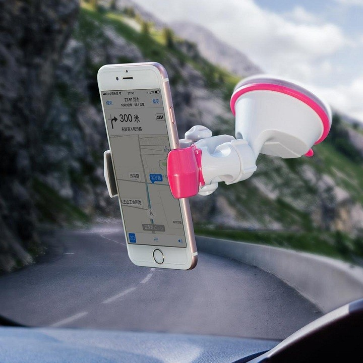 Giá đỡ điện thoại đế hút silicon trên xe hơi