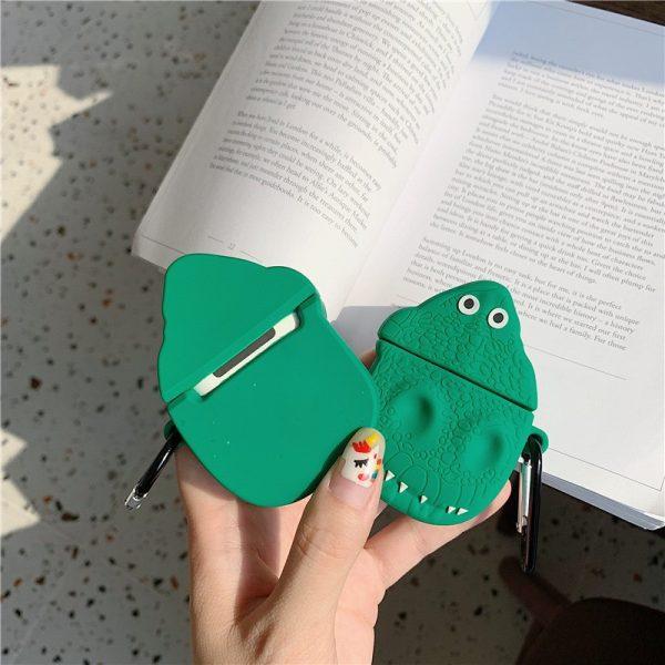 Ốp Airpods cá sấu xanh lá - PK407