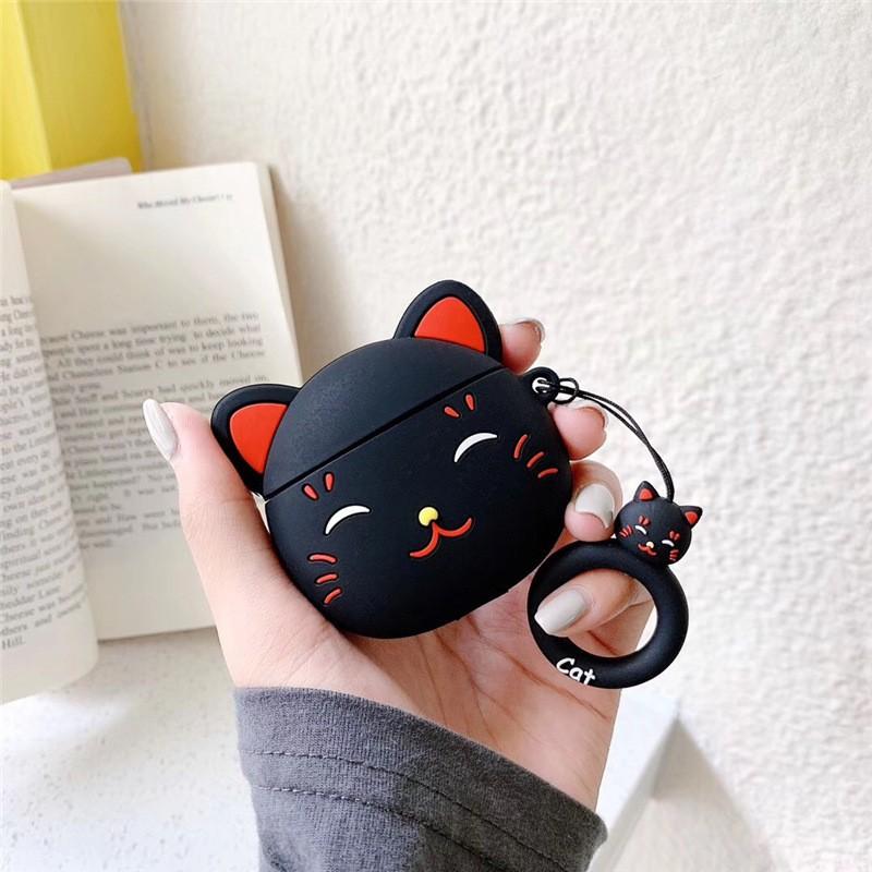 Ốp Airpods mèo đen- PK392